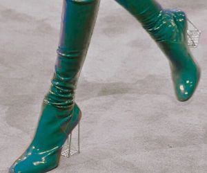 fashion, boots, and blue image