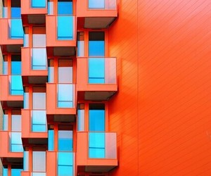 architecture, orange, and red-orange image