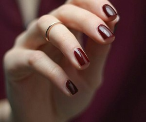 burgundy, maroon, and nail polish image