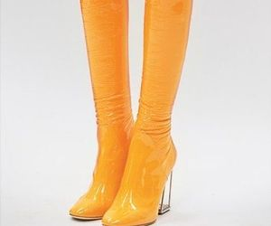 boots, yellow, and fashion image