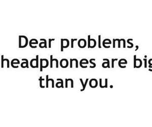 headphones, life, and music image