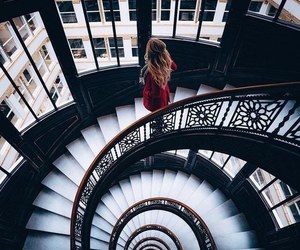 girl, stairs, and photography image