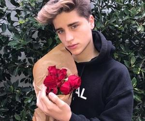boy, rose, and guy image