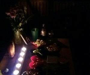 candle, dinner, and earth hour image