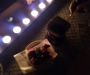 candle, chocolate, and earth hour image