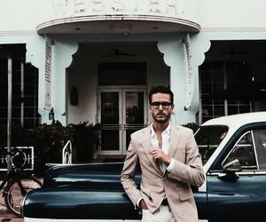 fashion, car, and man image