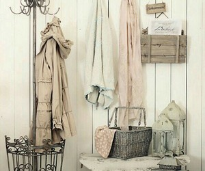 coat rack, home decor, and shabby chic image