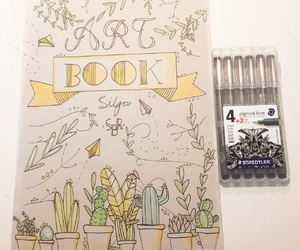 art, book cover, and drawing image