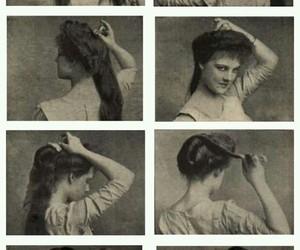 beauty, blackandwhite, and hair image