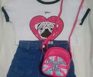 bag, pug, and cute image