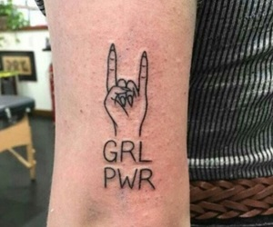 tattoo, girl power, and grunge image