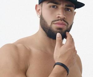 beard, muscles, and yummm image