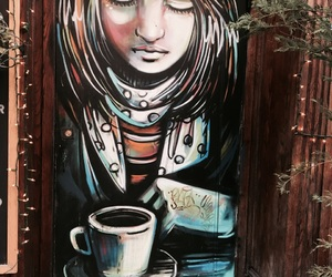 artwork, canal street, and coffee image