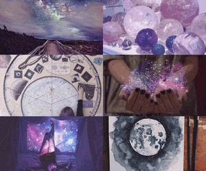 purple, aesthetic, and astrology image