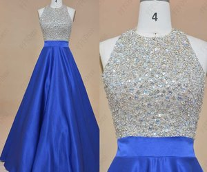 evening dress, halter, and pageant image