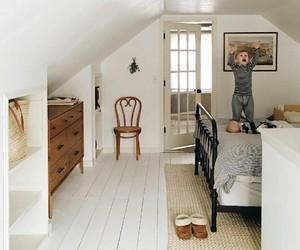 home decor, attic bedroom, and farmhouse style image