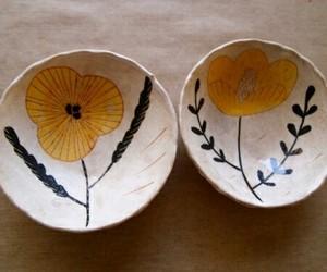 ceramic bowls, ceramics, and home decor image
