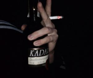 grunge, black, and smoking image
