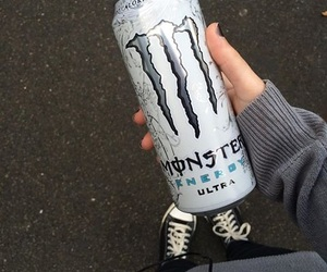 energy drink, monster, and ultra image