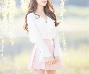 skirt, white, and autumn image