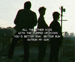 Lyrics, pumped up kicks, and foster the people image