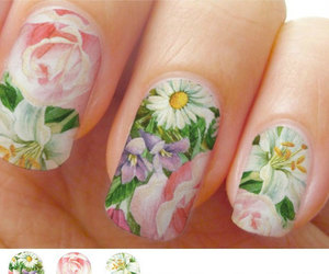 bouquet, spring, and nail wraps image