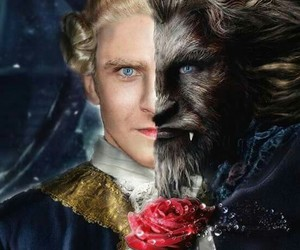 beast, beauty and the beast, and prince image