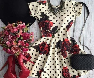 dress, outfit, and moda image