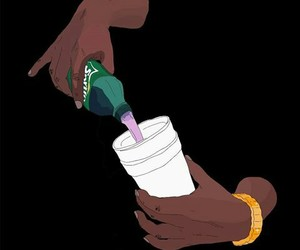 chains, gold, and purple drank image