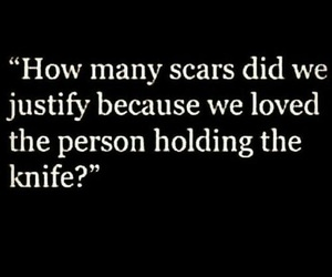 love, quotes, and scars image