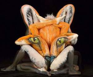 fox and body painting image