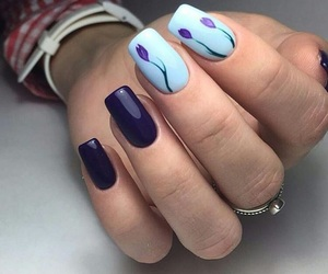blue and manicure image