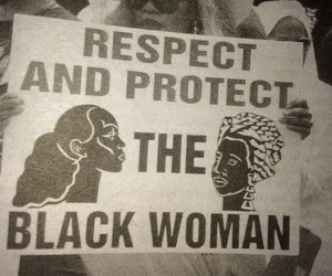 black woman, feminism, and respect image