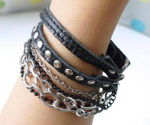 bracelets, fashion, and rock image