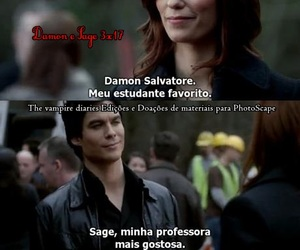 damon, the vampire diaries, and sage image
