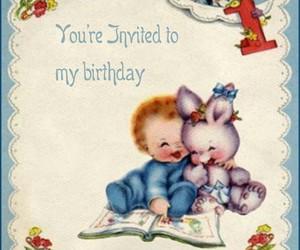 vintage baby birthday image