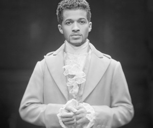 black and white, broadway, and hamilton image