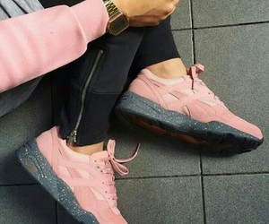 grey, pink, and mode image