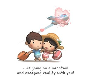 love, couple, and vacation image