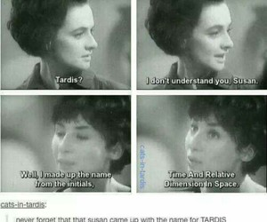 doctor who, tardis, and susan image
