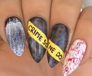 nails, crime, and Halloween image