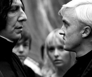 harry potter, draco, and snape image