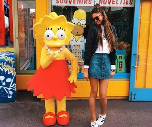 girl and simpsons image