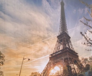 background, eiffel tower, and france image