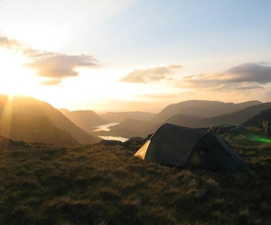 camping, wild, and tent image