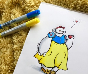 snow white, baymax, and disney image