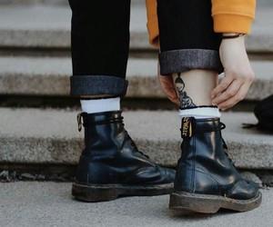 tattoo, fashion, and shoes image