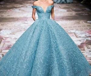 dress, blue, and princess image