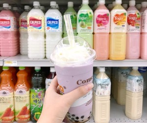 asian, bubble tea, and calpico image