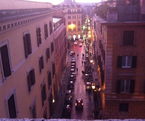 city, lights, and rome image